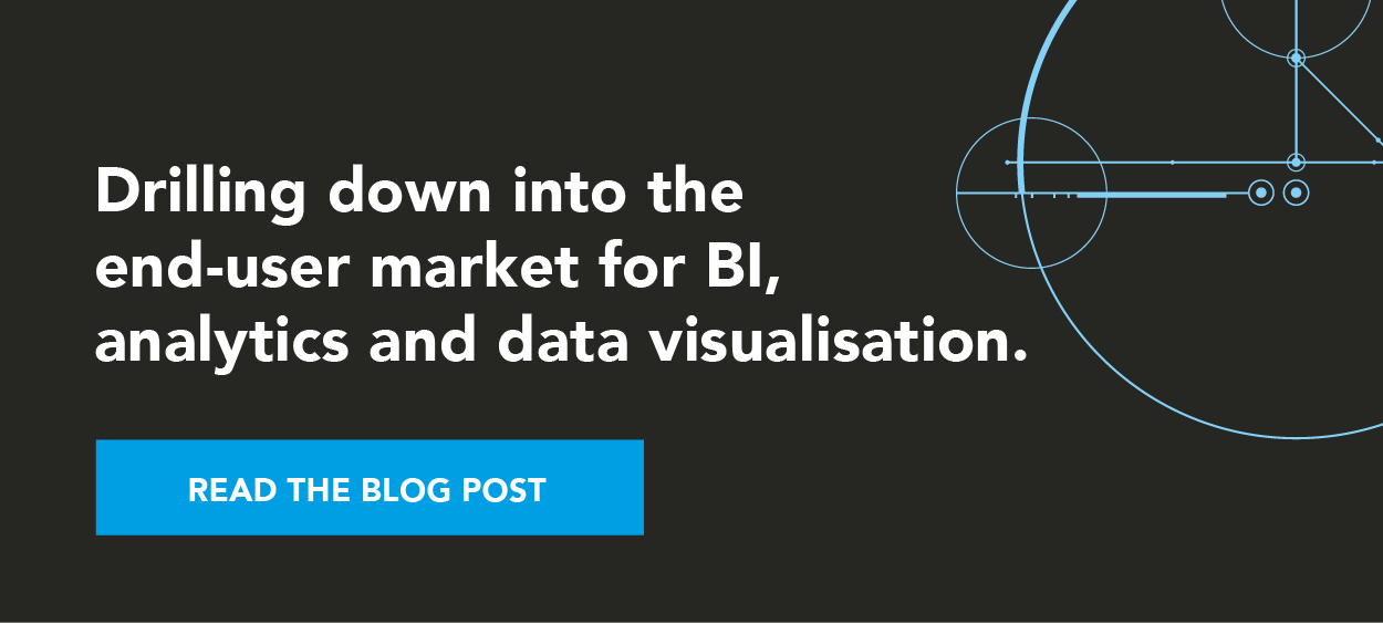 Drilling down into the end-user market for BI, analytics and data visualisation